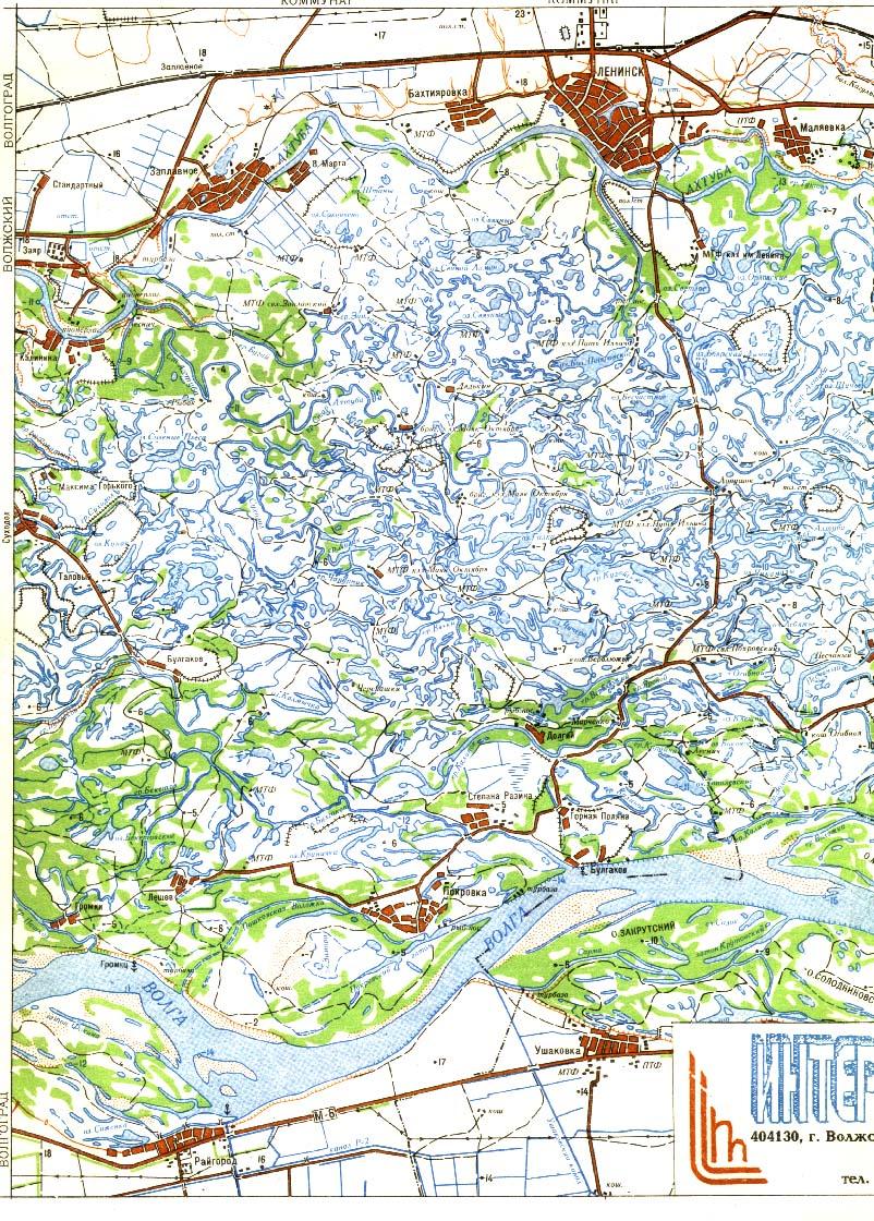 карта рыбака в ленинской пойме волгоградской области